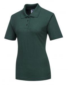 Ladies Naples Polo Shirt Bottle Green Size L