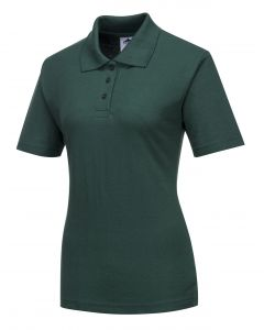 Ladies Naples Polo Shirt Bottle Green Size S