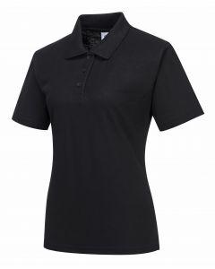 Ladies Naples Polo Shirt Black Size S