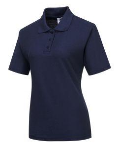 Ladies Naples Polo Shirt Navy Size M