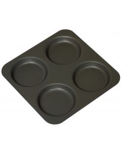 4 Cup Yorkshire Pudding Tray Non Stick 245 x 245 x 16mm