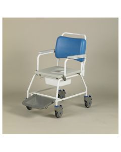 Atlantic Commode Shower Chair 18 Inch - with footrests