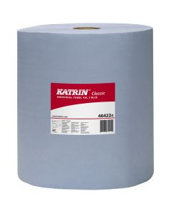 Katrin Classic Industrial Wiper XXL Embossed 500 Sheet, Blue 3 ply