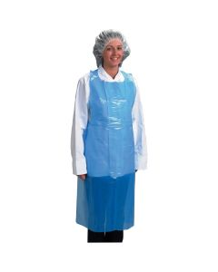 DISPOSABLE POLY APRONS - BLUE
